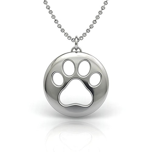 Sterling Silver 925 Dog Cat Paw Symbol Pendant Necklace Soan Jewelry