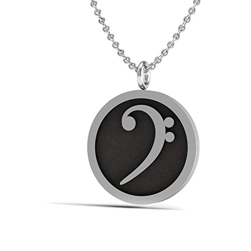 Sterling silver 925 necklace music note symbol bass clef pendant sterling silver 925 necklace music note symbol bass clef pendant blackened polishing cloth aloadofball Images