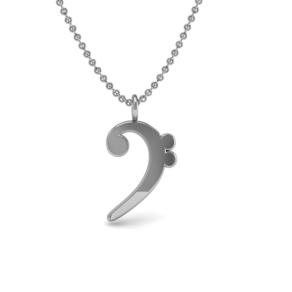 Sterling silver 925 necklace music note symbol bass clef pendant sterling silver 925 necklace music note symbol bass clef pendant aloadofball Choice Image
